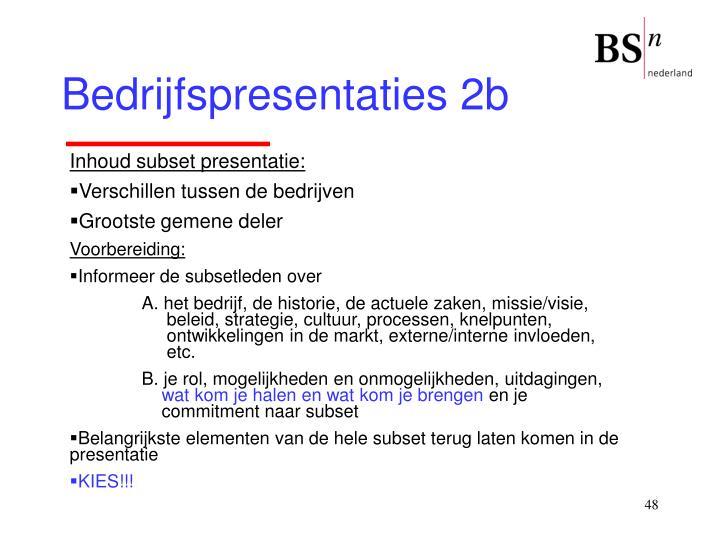 Bedrijfspresentaties 2b