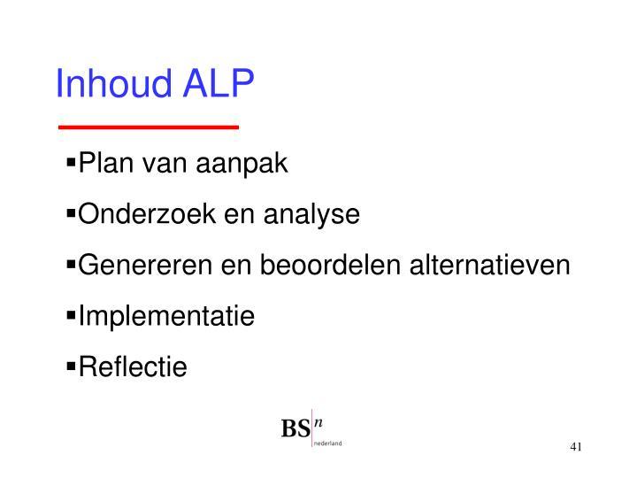 Inhoud ALP
