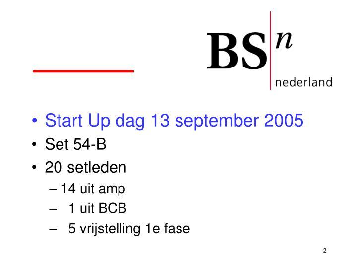 Start Up dag
