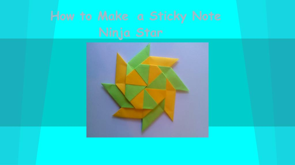 Origami: How To Make Ninja Stern Fan with Sticky Notes | Easy ... | 576x1024