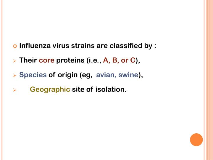 Influenza virus strains are classified by :