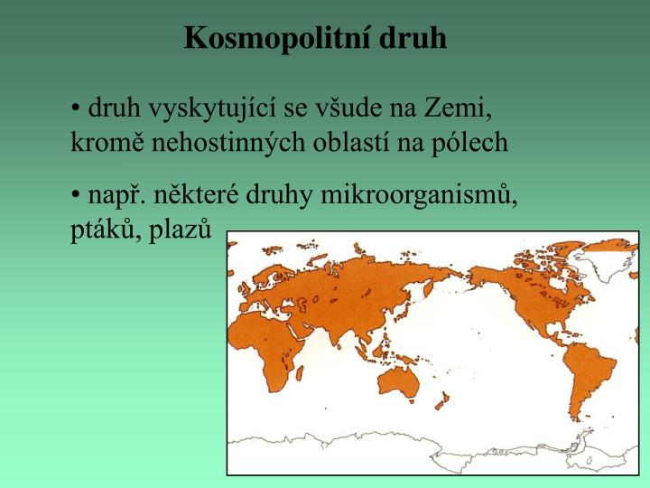 Kosmopolitní druh