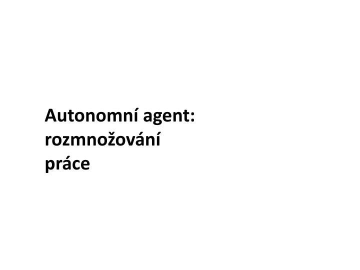 Autonomní agent: