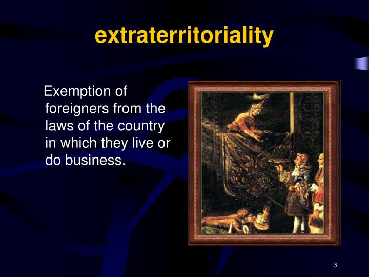 extraterritoriality
