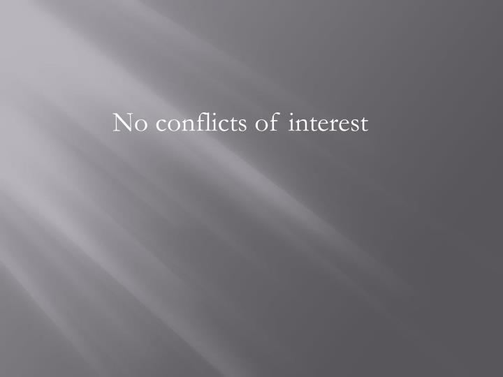 No conflicts of interest