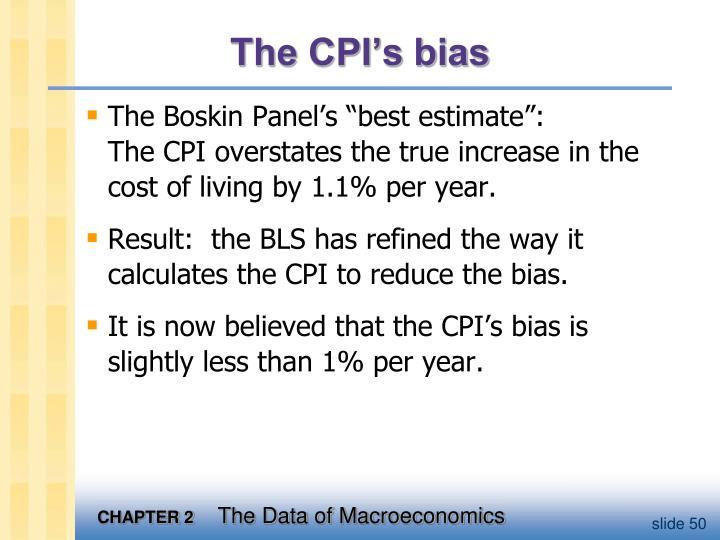 The CPI's bias