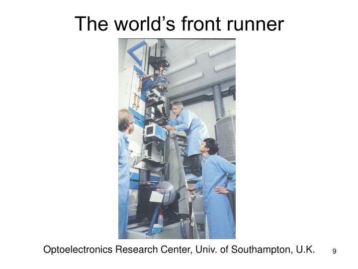 The world's front runner