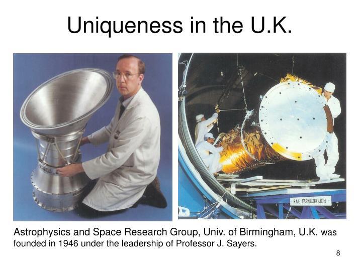 Uniqueness in the U.K.