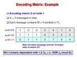 encoding matrix example1