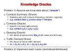 knowledge oracles