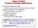 legacy routing proactive protocols table driven