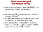 performance analysis with multiple ferries