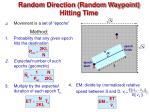 random direction random waypoint hitting time