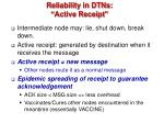 reliability in dtns active receipt