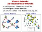 wireless networks ad hoc and sensor networks