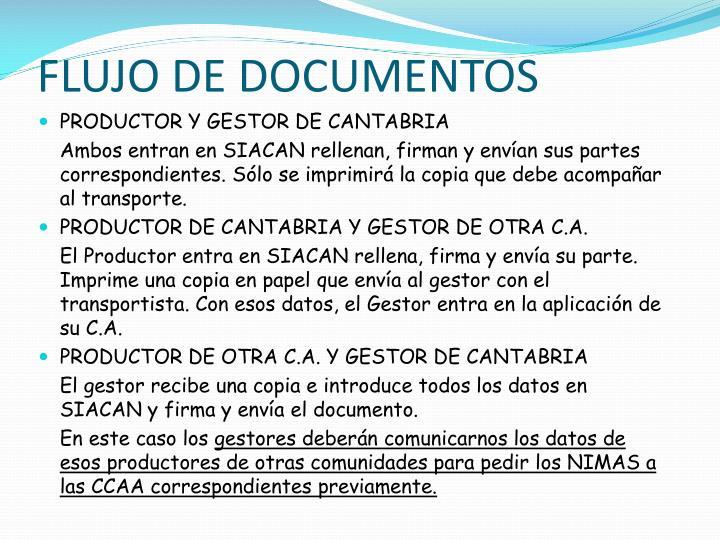 FLUJO DE DOCUMENTOS