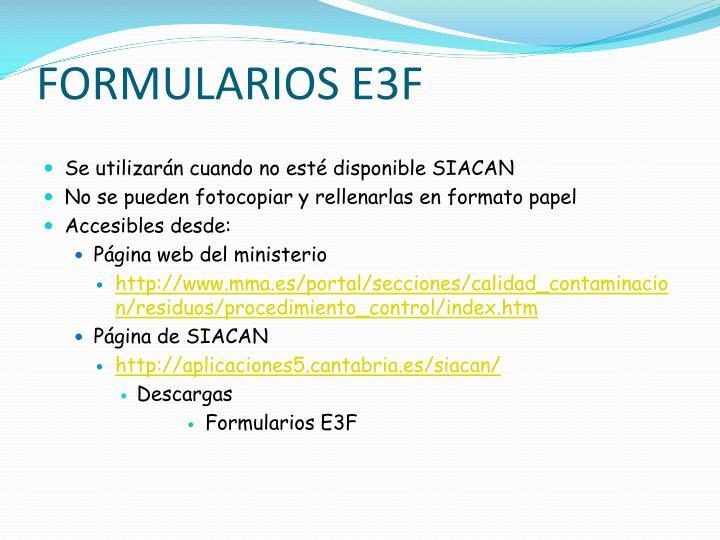Formularios e3f