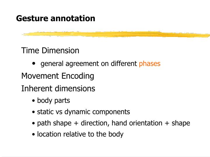 Gesture annotation