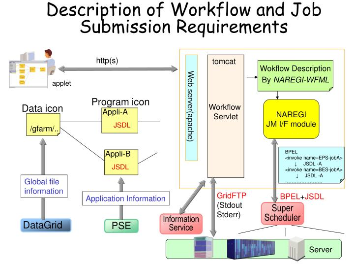 Description of Workflow and Job Submission Requirements
