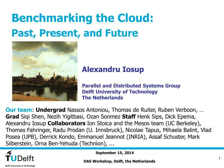 benchmarking the cloud past present and future n.