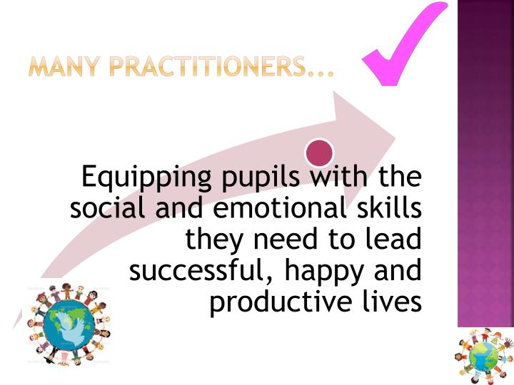 Many practitioners...