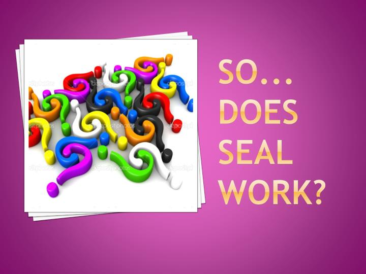 So... does SEAL work?