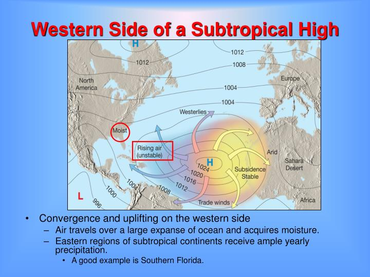 Western Side of a Subtropical High