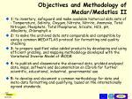 objectives and methodology of medar medatlas ii