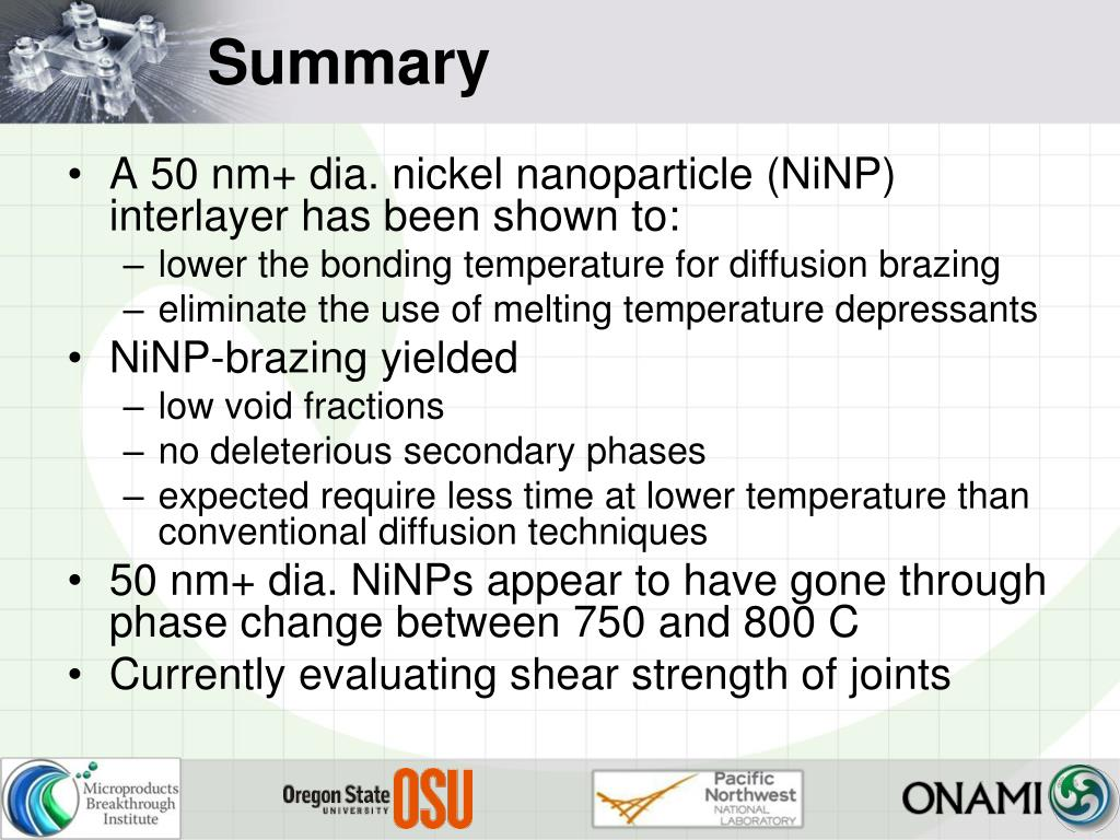 PPT - Application of Nickel Nanoparticles in Diffusion