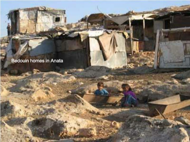 Bedouin homes in Anata