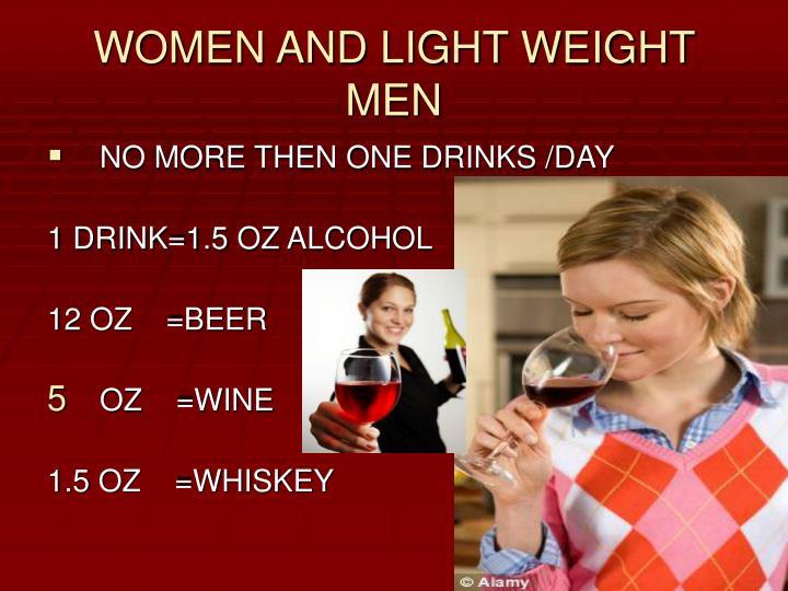 WOMEN AND LIGHT WEIGHT MEN