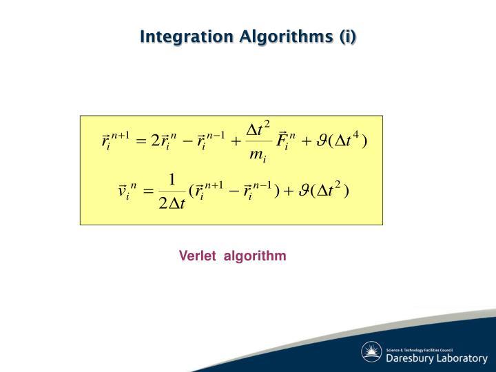 Integration Algorithms (i)