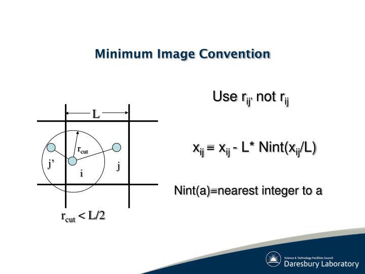 Minimum Image Convention