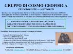 gruppo di cosmo geofisica tesi proposte meteoriti
