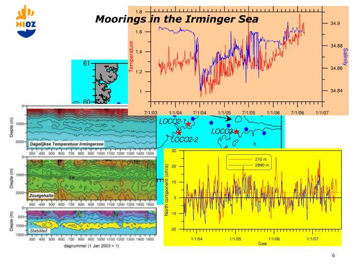 Moorings in the Irminger Sea
