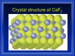 crystal structure of caf 2