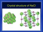 crystal structure of nacl