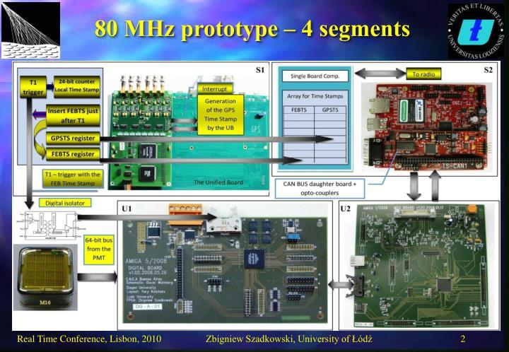 80 MHz prototype – 4 segments