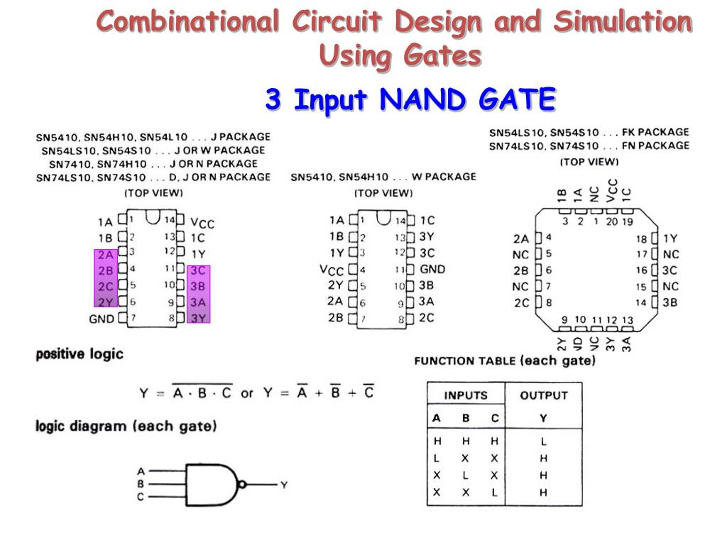 Ppt 3 Input Nand Gate Powerpoint Presentation Id4439271 Logic Diagram Using Only Gates Slide1 N