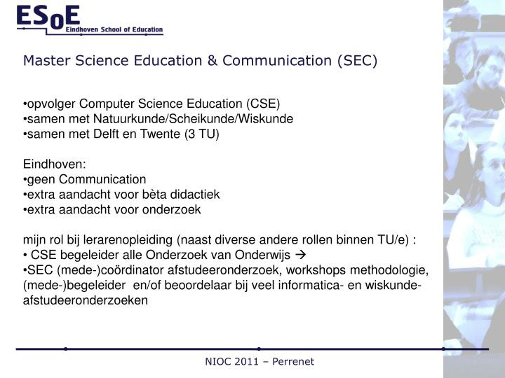 Master science education communication sec