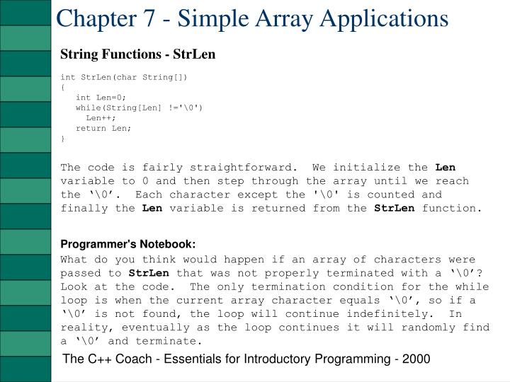 Chapter 7 simple array applications1