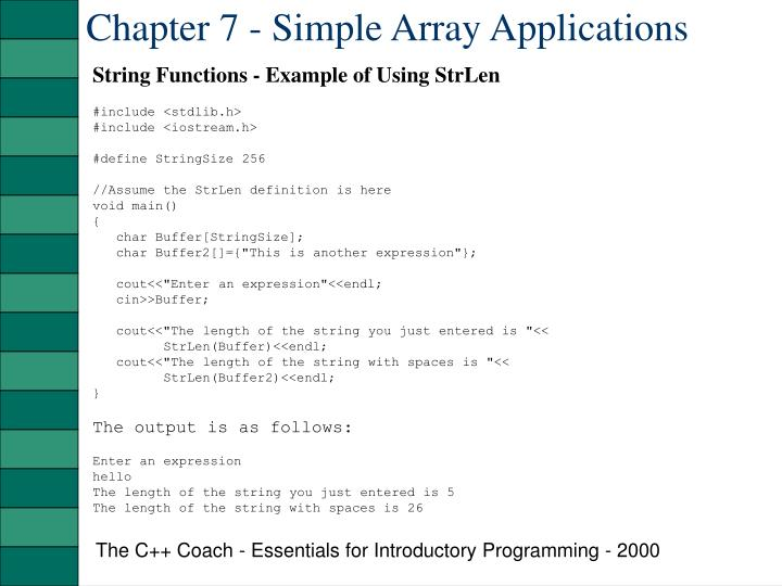 Chapter 7 simple array applications2