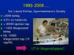 1993 2008 szt l szl k rh z gyermekintenz v oszt ly