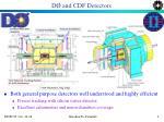 d and cdf detectors