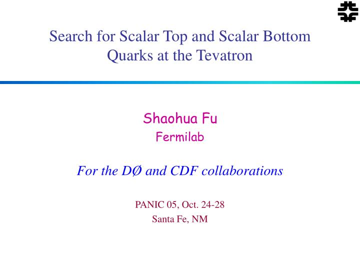 search for scalar top and scalar bottom quarks at the tevatron n.