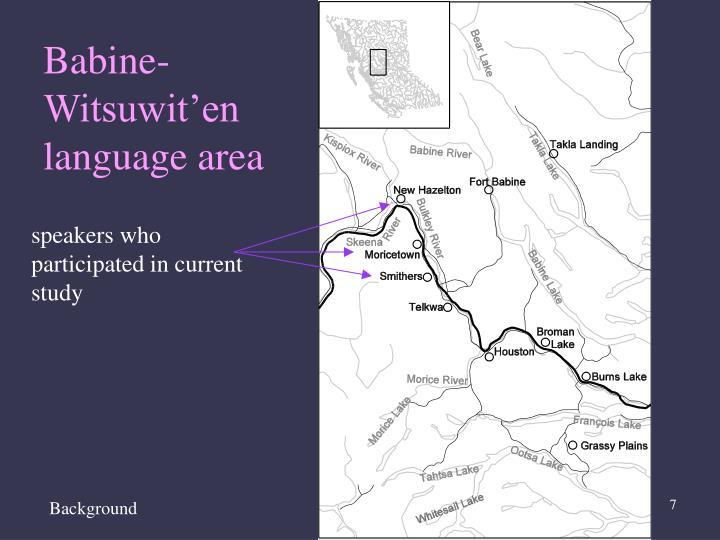 Babine-Witsuwit'en language area