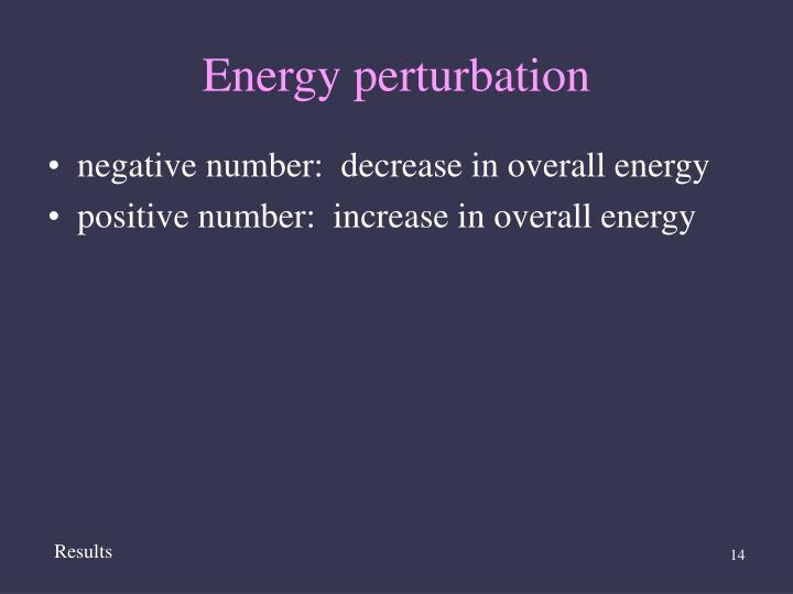 Energy perturbation