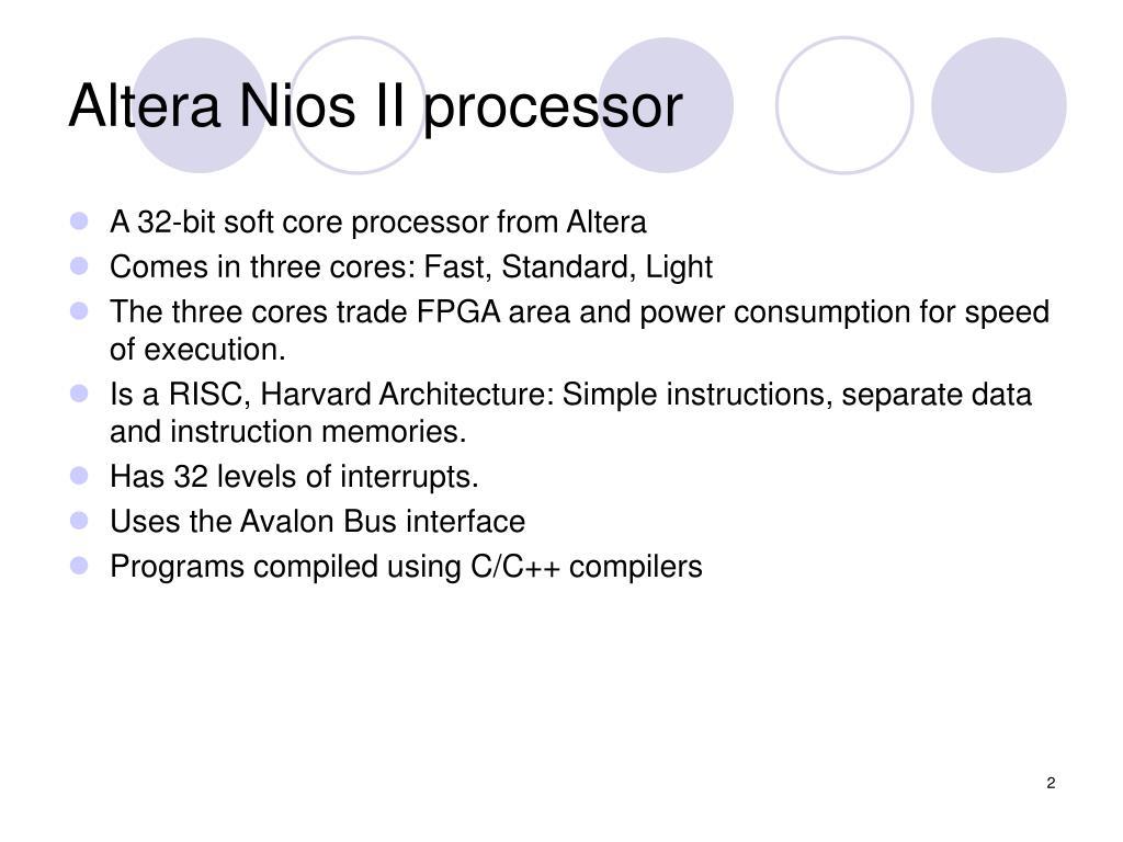 PPT - 3-General Purpose Processors: Altera Nios II PowerPoint