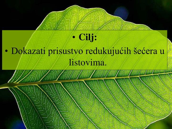 Cilj: