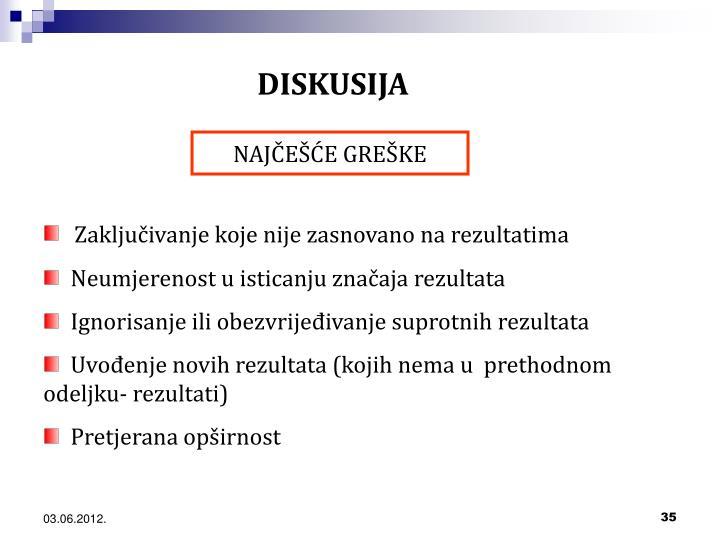 DISKUSIJA